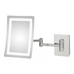 Cordless Dual Led Lighted Round Wall Mount Mirror 1x 10x