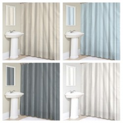 Sheer Fabric Shower Curtain Liner