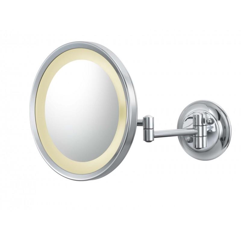 Miroir De Maquillage Ronde Grossissement deux faces pivotant autoportante Portable