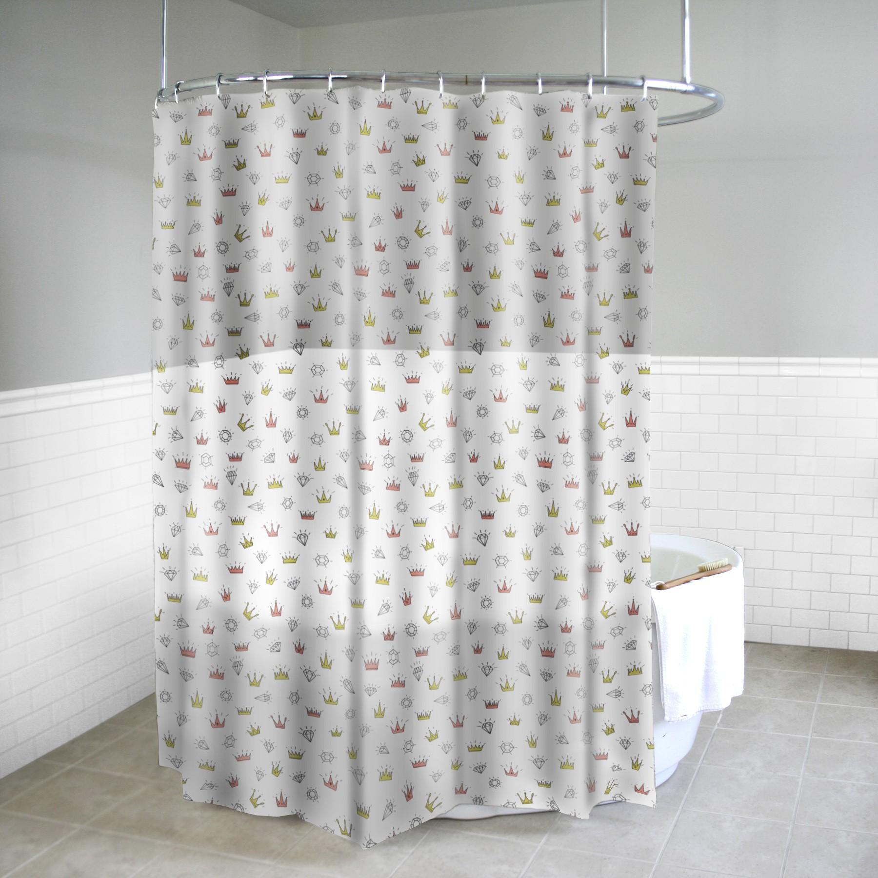 Diamonds Tiaras Shower Curtain